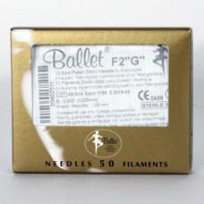 Иглы для электроэпиляции Ballet золотые