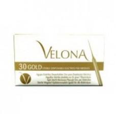 Velona иглы золотые K для эпиляции (30шт.)